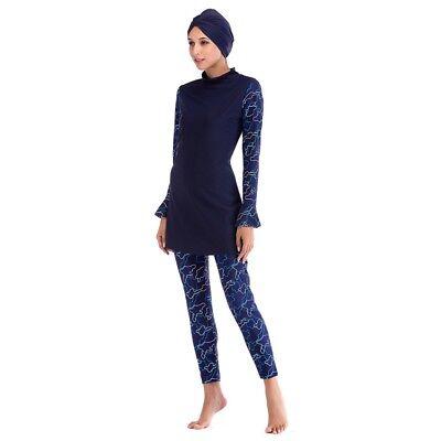 Womens Islamic Muslim Burkini Swim Costume Modest Swimwear Beach Swimming