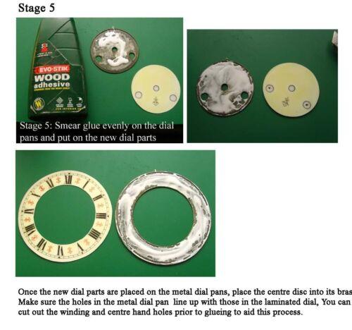Buyers Ref:F Replacement laminate White  Vienna Regulator Clock Dial option 6