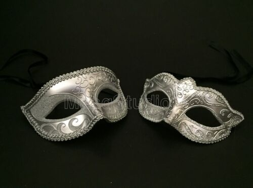 Couple Gold Silver Masquerade Ball Set Costume Bachelor prom birthday surprise