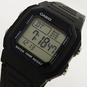 Casio-LED-Mens-Digital-W-800H-1AVES-Black-Timepiece-Gents-Boys