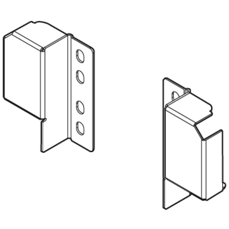 BlauM Tandembox Relinghalter für verstellbare Reling, grau RAL9006