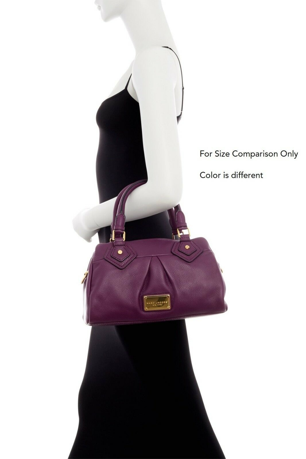 b55bb544f0e9 Marc Jacobs Classic Q Groovee Leather Handbag Seal Brown W  Silver Hardware  for sale online