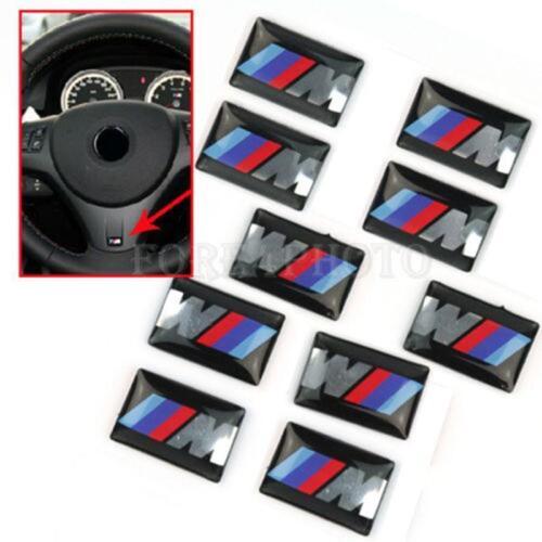 30PCS For BMW M5 3D Car Logo Decal Sticker Sport Wheel Dashboard Badge Emblem