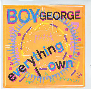 Boy-GEORGE-Disque-45T-7-034-EVERYTHING-I-OWN-USE-ME-VIRGIN-90308-Frais-Reduit