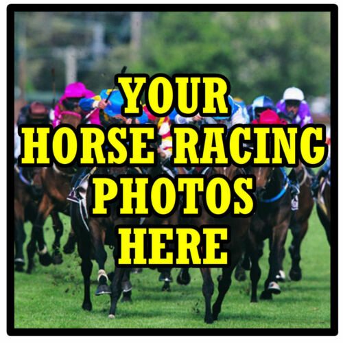 SET OF 4 COASTERS GIFT NEW OWN HORSE RACING PHOTO/'S PERSONALISED COASTERS