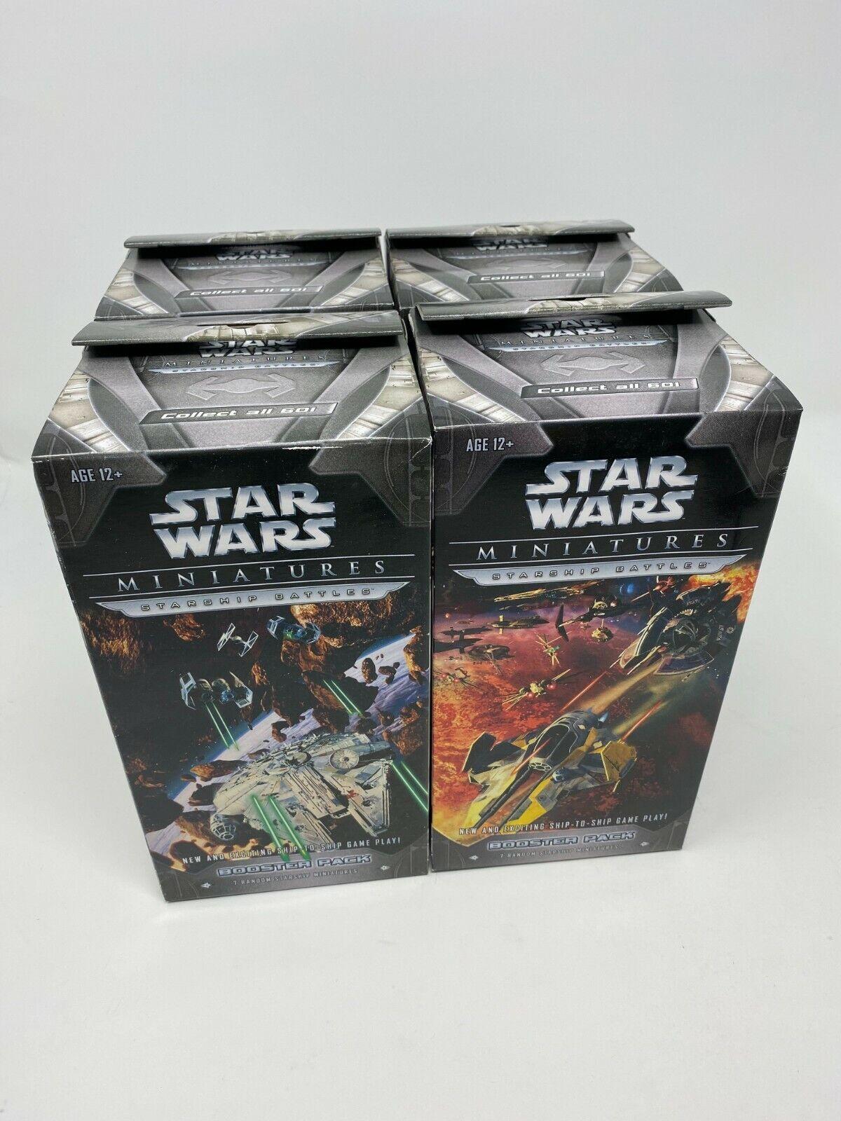 estrella guerras Miniatures estrellaship Battles Booster Pack Wizards of the Coast (x4)