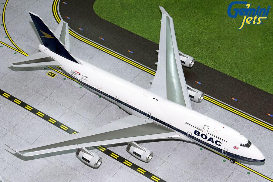 Tienda 2018 Gemini Jets 1 200 British Airways Boeing 747-400  BOAC BOAC BOAC  Retro G2BAW834 En Stock  descuento online
