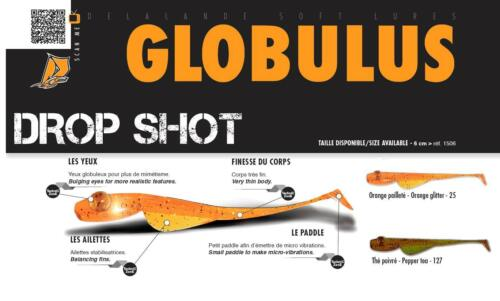 10 Stück DELALANDE GLOBULUS Drop Shot Köder   Street Fishing