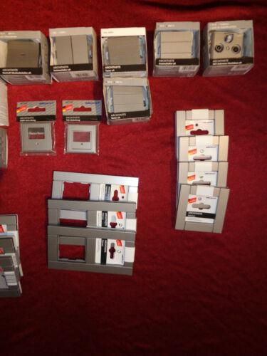 29 Teile Set,REV//düwi ARCHITASTE graphit grau Steckdosen+Schalter+Rahmen+Taster