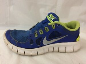 hot sale online 70a30 d2a6c Details about Nike Free 5.0 Boys 3.5 Youth Blue Running Shoe Sneaker  Athletic 580558-400 Green