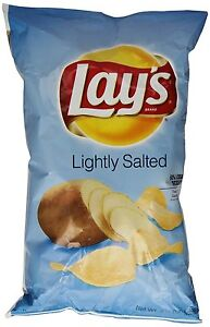 Lays Lightly Salted Potato Chips 7.75oz Bags (3 Pack)