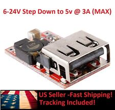 New 6-24V 12V/24V to 5V 3A CAR USB Charger Module DC Buck step down Converter