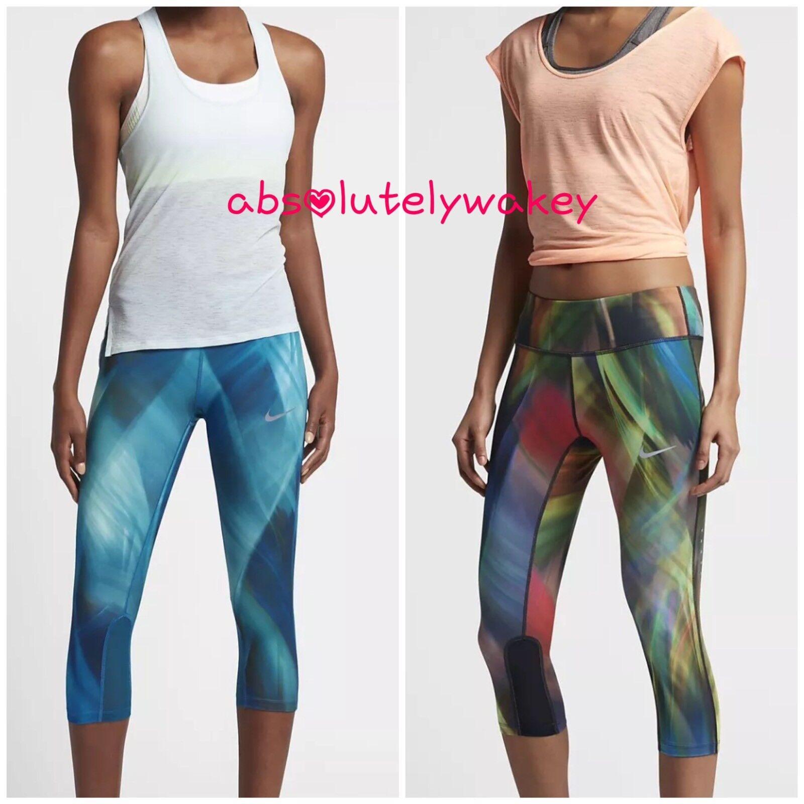 NIKE POWER EPIC Women's Running Training Gym Capris Dri-FIT Compressive Fit