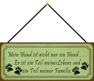 Dog - Part of The Life And Family Shield with Cord Tin Sign 10 X 27 CM K0027-K