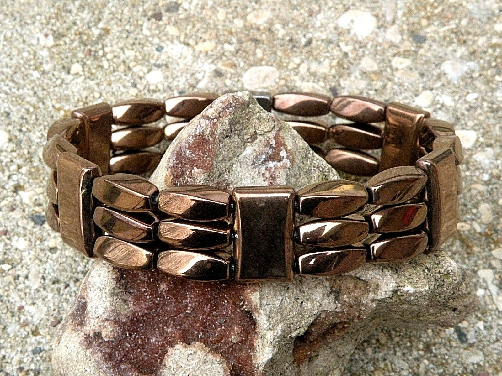 Men's Women's 100% Copper Magnetic Healing Bracelet Anklet 3 Row Therapy Tested