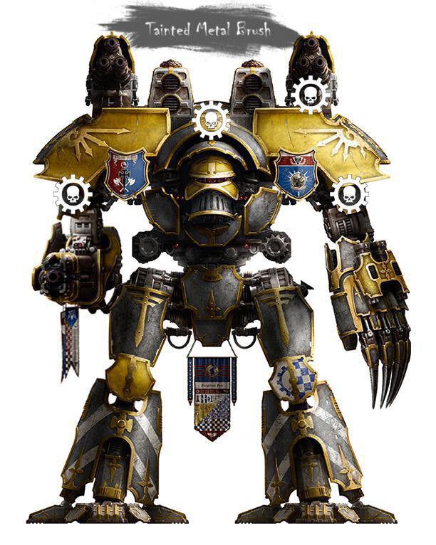 FORGE WORLD WARHAMMER el Horus Heresy Marte patrón Señor de la guerra Titan   Comisión