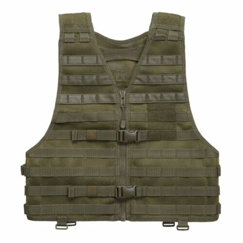 OLIVE MILITARY AIRSOFT HUNTING MOLLE TACTICAL COMBAT CHEST ATTACHMENT RIG VEST