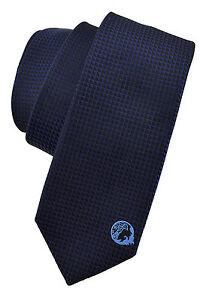 185-Versace-Bleu-Marine-Medusa-Logo-Hommes-Cravate-100-soie-nouvelle-collection