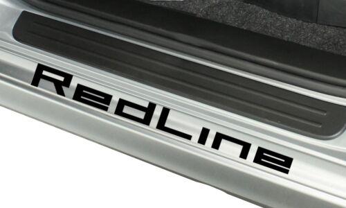 DoorStep RedLine x4 Decal Vinyl Sticker Overlay door step sill high RPM red line