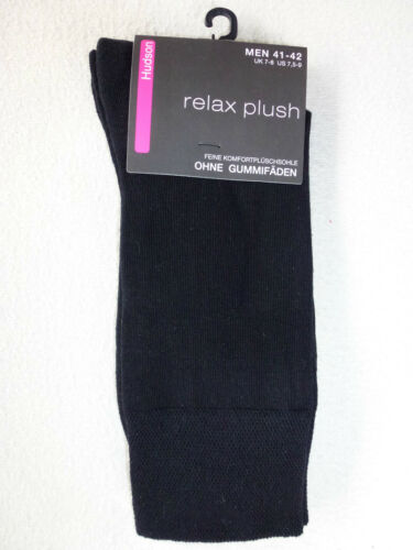 HUDSON Herren Socken RELAX PLUSH ohne Gummifäden Plüschsohle Arbeitssocken NEU