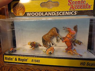 Woodland Scenics HO #1940 - Ridin' & Ropin'