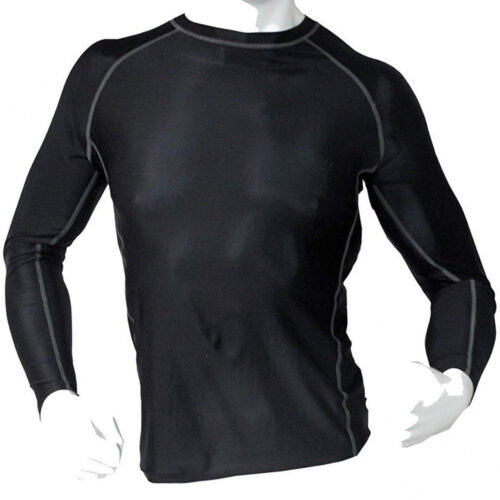 Men/'s Fitness Workout Base Layer Compression Body Armour Shirt Long Sleeve