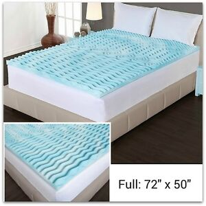 memory foam mattress topper full size 2 thick egg crate orthopedic cushion bed ebay. Black Bedroom Furniture Sets. Home Design Ideas