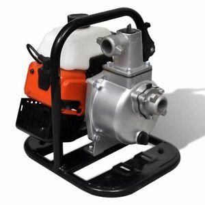 vidaXL-Waterpomp-Benzine-2-Traps-1-45-kW-0-95-L-Water-Pomp-Irrigatiepomp-Tuin
