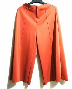 Matte-Orange-Rust-Culottes-wide-pants-Rare-color