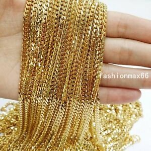 Wholesale-In-Bulk-4mm-Gold-Stainless-Steel-Curb-Cuban-Chain-Necklace-DIY-Jewelry