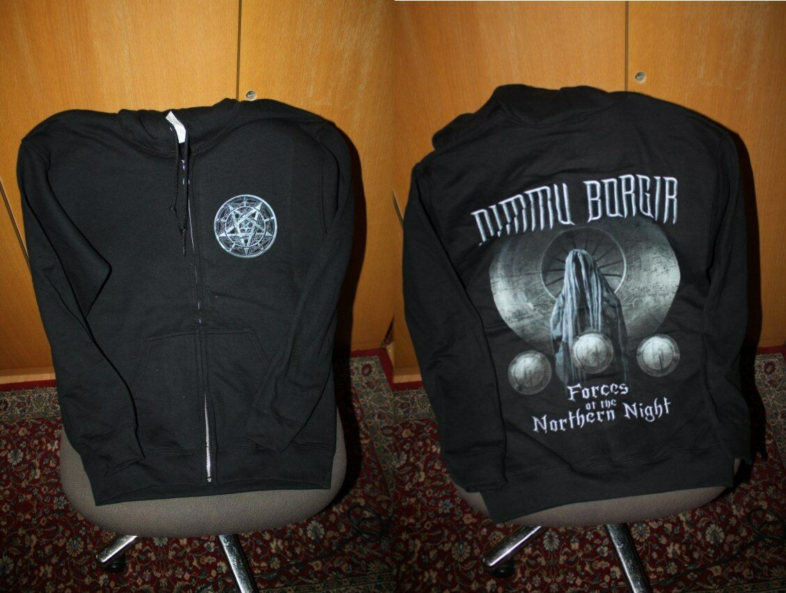 Dimmu Borgir - Forces of the the the night hooded Zipper S NEW Cradle of filth Emperor bb56d8
