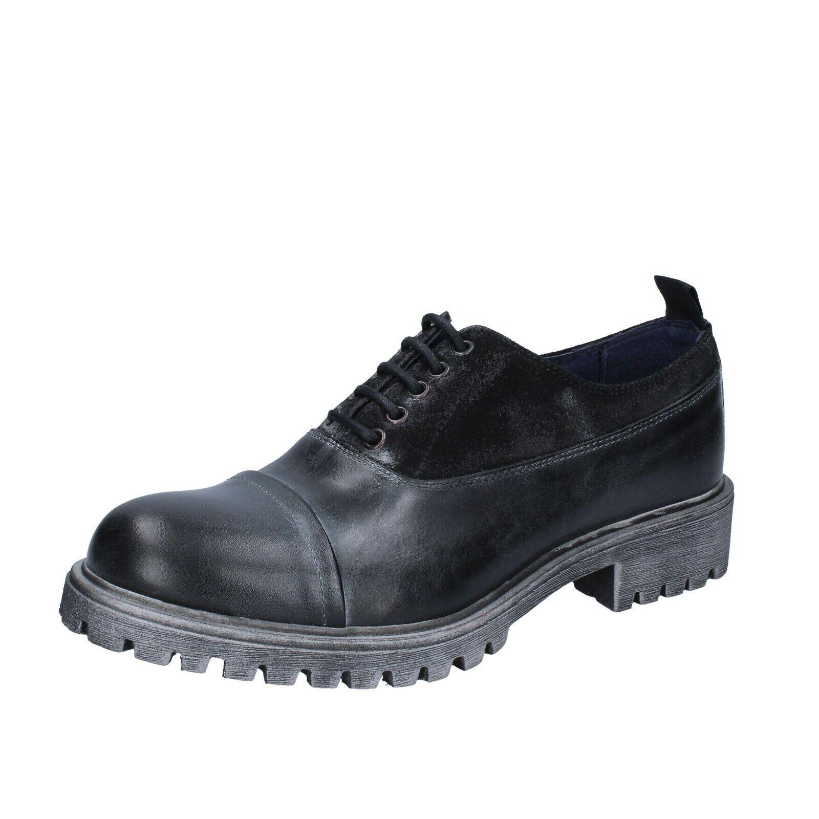Homme Chaussures ossiani 6 (UE 40) noir élégant cuir daim BS724-40