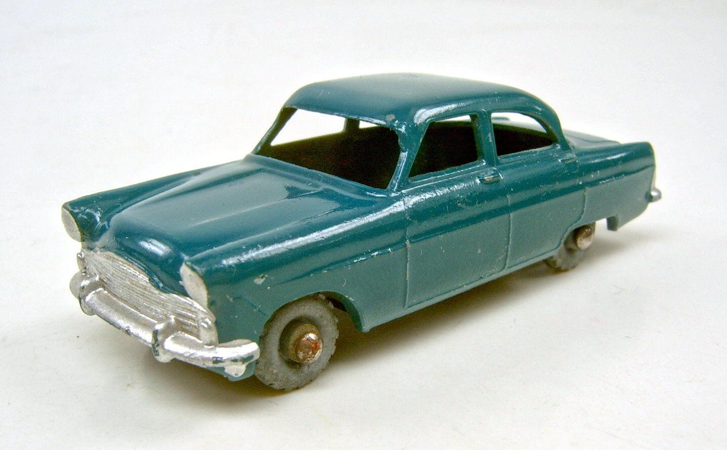 MATCHBOX RW 33a Ford Zodiac verde scuro ruote di metallo ottime condizioni