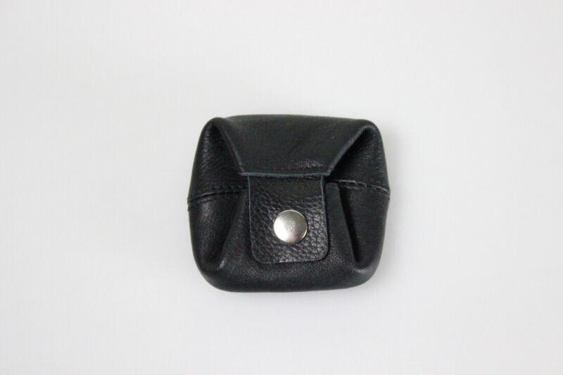 Schwarze Mini Geldbörse Leder Münzbörse Geldbeutel Kleingeldbörse Münzbeutel