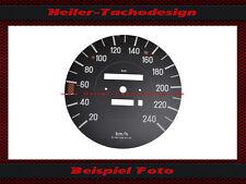 Tachoscheibe Mercedes W107 R107 380 SL 240 kmh E-Tacho Tacho Speedo Dial