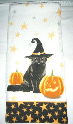 NEW HALLOWEEN MOTIF KITCHEN TOWEL CAT MOTIF ~ You Choose Style