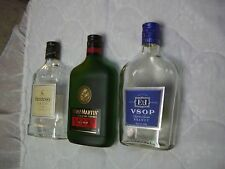 Three 375 ML V.S.O.P Glass Bottles/Remy Martin & Hennessy Cognac/E&J Brandy