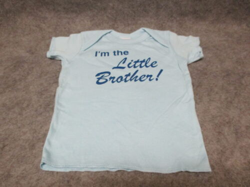 "NEW Rabbit Skins /""I/'m The Little Brother/"" Blue T-Shirt 100/% Cotton 6M 12M 2T 4T"