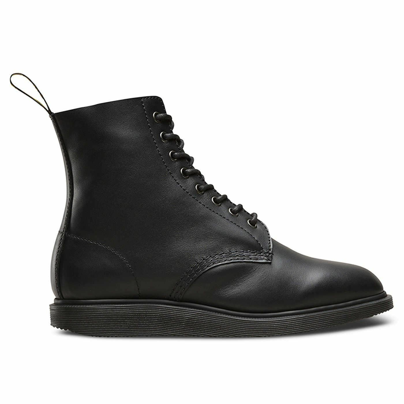 Zapatos especiales con descuento Dr.Martens Whiton 8 Eyelet Softy Treviews Black Womens Boots