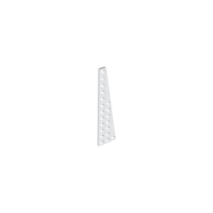 47398 Lot x2 Lego Plaque Aile BLANC WHITE  Wing Plate 3x12-4209005
