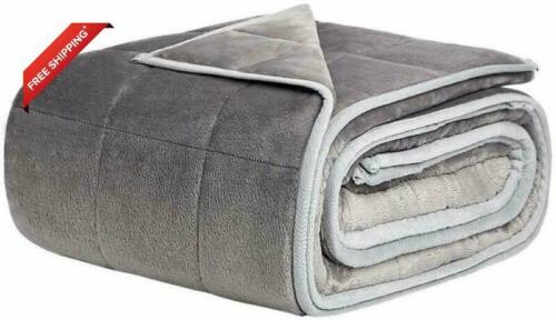 NEWSHONE Weighted Blanket 15 lbs for s Fuzzy Flan Twin//Full size  48/'/'x72/'/'