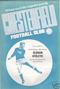 CHESTERFIELD-V-OLDHAM-ATHLETIC-3RD-DIVISION-12-8-72