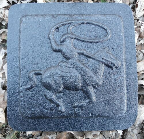 Roping cowboy mold plastic travertine casting tile mould
