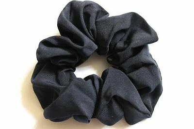 Pack 2 pastel coloured hair bobbles lacy fabric elastic scrunchie ponio band