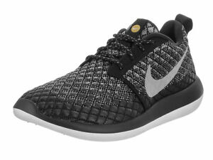 NIKE ROSHE TWO FLYKNIT 365 RUNNING SHOES GREY BLACK 861706 001 SIZE 6.5 WOMEN