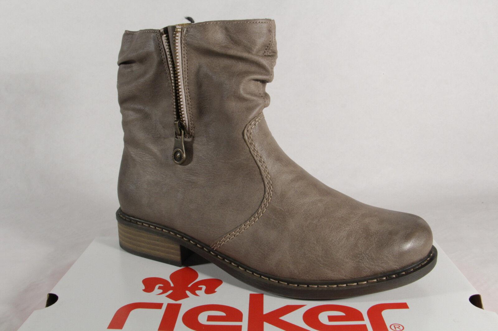 risparmia fino al 70% di sconto Rieker Z4157 Stivali Stivali Stivali Donna Stivaletti Beige Nuovo  i nuovi stili più caldi