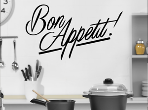 "Bon Appetite on car Wall  Kitchen wall truck Laptop MAC decal sticker 10/"" Black"