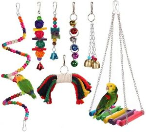 Wooden-Bird-Play-Toy-Cage-Bell-Bridge-Hanging-Accessories-for-Birds-Parakeets