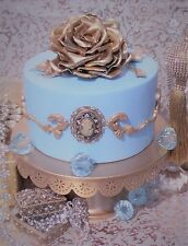 Faux fake cake Tiffany Blue rose and cameo prop decoration