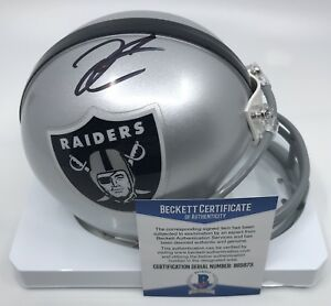 online store 5c41a 8cbdb Details about Derek Carr Hand Signed Autograph Mini Helmet Oakland Raiders  100% Authentic 3